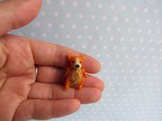 Spielzeug FUCHS Toy für RealPuki BJD Puppe OOAK  3 cm miniatur Handmade for Real Puki Pukifee doll Fairyland von NiceMiniThings auf Etsy