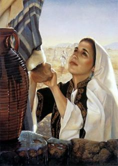 Drink and Never Thirst By Liz Lemon Swindle In the story of the woman at the well, the Savior invites the Samarian women to drink of the living waters. Pictures Of Christ, Bible Pictures, Scripture Study, Bible Art, Litany Of Humility, Image Jesus, Lds Art, Prophetic Art, Biblical Art