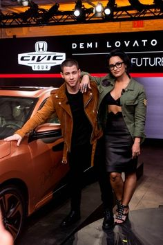 Demi and Nick Jonas at the 2016 Honda Civic Tour Artists Announcement in New York