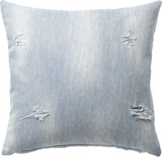 """23"""""""" Cloud Distressed Pillow with Feather-Down Insert"""