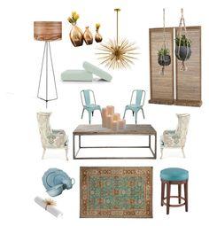 """New luxury"" by raffaellapapami on Polyvore featuring interior, interiors, interior design, home, home decor, interior decorating, Massoud, Darya Rugs, Frontgate and Threshold"