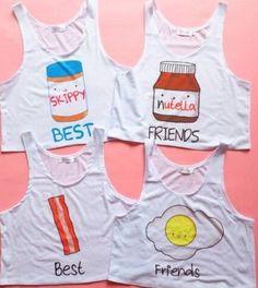 Best friend shirts - Bestfriend Shirts - Ideas of Bestfriend Shirts - Best friend shirts Best Friend T Shirts, Bff Shirts, Best Friend Outfits, Cute Shirts, Friends Shirts, Bff Goals, Best Friend Goals, Outfits For Teens, Summer Outfits
