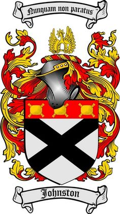 JOHNSTON FAMILY CREST - COAT OF ARMS gifts at www.4crests.com