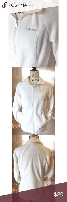 Columbia Zip Up Jacket, Cream Color, Columbia Zip Up Jacket, Cream Color, worn once Columbia Jackets & Coats