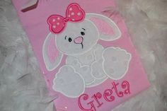 Personalized Easter Bunny Applique Tshirt by kuntrystichn on Etsy,