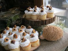 Acorn cupcakes for Erin's baby shower
