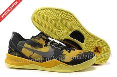 Womens Nike Kobe 8 Black Maize Shoes