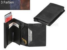 secrid VINTAGE - Leder RFID Slimwallet Minibörse Kartenetui - 3 Farben
