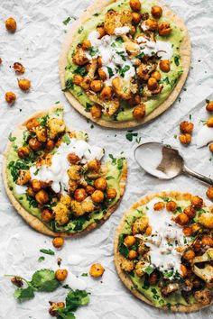 Pinch of Yum's Roasted Veggie Pitas with Avocado Dip recipe
