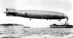 USS SHENANDOAH (ZR 1) moored to USS PATOKA (AO 9) 1931