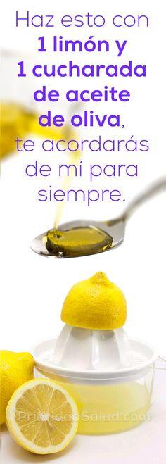 1 limon y 1 cucharada de aceite de oliva, haz esto y te acordaras de mi para siempre #limón #aceites #remedioscaseros