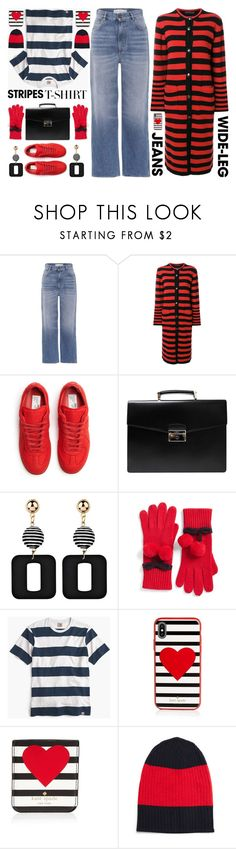 """""""OOTD"""" by shoaleh-nia ❤ liked on Polyvore featuring Golden Goose, Etro, Maison Margiela, Prada, Kate Spade, J.Crew and Wood Wood"""