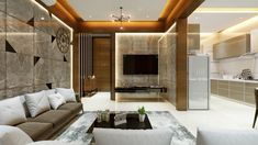 Apartment Interior, Living Room Interior, Hall Interior, Interior Stairs, Apartment Design, Kitchen Interior, Kitchen Design, Tv Wall Decor, Indian Living Rooms