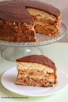Этот торт пеку уже второйраз и однозначно буду печь еще. ВКУСНЯТИНА! Он стал для меня открытием в плане приготовления бисквита, а также я попробовала новый способ приготовления глазури. Очень мне понравилось экспериментировать:) Предупреждаю, торт очень сытный, впрочем, как и его…