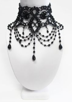Victorian Gothic Burlesque beaded choker