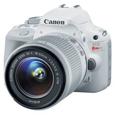 My xmas present!!!! Canon EOS Rebel SL1 18MP Digital SLR Camera with EF-S 18-55mm IS STM Lens - White