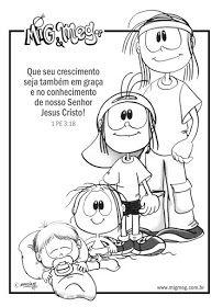 Desenhos De Mig E Meg Para Colorir Pintar Imprimir Biblicos Mig
