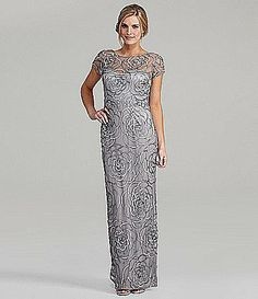 This Aidan Mattox gown is a chic choice for a mother-of-the-bride. Mob Dresses, Bridal Dresses, Formal Dresses, Mother Of The Bride Gown, Sequin Gown, Mothers Dresses, Groom Dress, Party Gowns, Beautiful Gowns