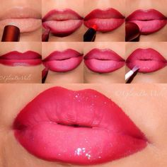 ombre look on lips