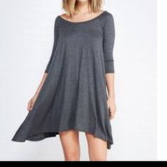 Chic tunic dress Grey swing tunic dress rayon jersey knit with spandex PLEASE USE Poshmark new option you can purchase and it will give you the option to pick the size you want ( all sizes are available) BUNDLE And SAVE 10% ( sizes updated daily Dresses
