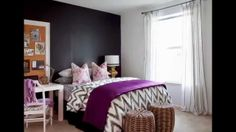 Stylish Apartment Living - eclectic - bedroom - atlanta - by Dayka Robinson Designs Stylish Apartment, Bedroom Design, Apartment Living, Tween Room, Purple Bedrooms, Eclectic Bedroom, Black Accent Walls, Pink And Grey Room, Remodel Bedroom