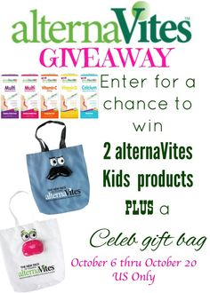 Enter to #win 2 alternatives kids products + celeb gift bag #giveaways
