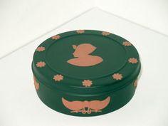 RARE Terracotta on Black Wedgwood Jasperware Trinket Box
