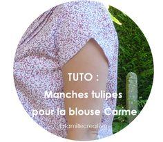 La famille créative: [TUTO] manches tulipes pour la blouse Carme