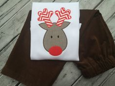 Hey, I found this really awesome Etsy listing at https://www.etsy.com/listing/169677714/boys-rudolph-shirt-personalized-shirt
