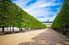 THE PALAIS-ROYAL GARDENS Far from the noise and bustle, these serene formal gardens and elegant shops tucked behind the walls of a 17th-century palace are a delightful haven and one of Paris's best-kept secrets. Once a royal residence, the hushed arcades and manicured gardens of the Palais-Royal are now home to world-class perfumers, antiquaires and designer boutiques-and two of France's most important glove makers.