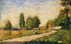 artist-seurat: Village Road via Georges SeuratMedium: oil on...