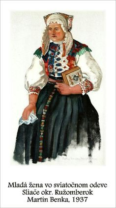 Lipt.Sliače Folk Costume, Costumes, Folk Embroidery, My Roots, Graphic Art, Two By Two, Illustration Art, Tapestry, History