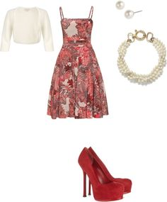 """""""Rockin the 50s housewife look"""" by brittyanne on Polyvore"""
