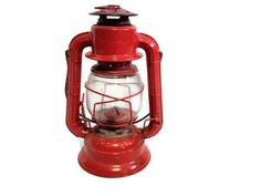 Dietz No 50 Vintage Oil Lantern Red Camping Hunting Fishing Rustic Antique Collectible Railroad Outdoors. $27.98, via Etsy.