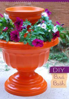 planter & birdbath combo