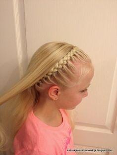 "Frozen Hair Styles, Anna's ""coronation braid"", Elsa and Anna hair styles, easy and cute girl hair styles"