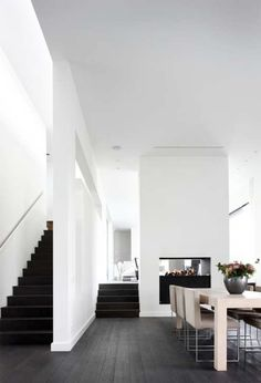 Simple staircases call to me. As do simple colour palettes. #interior design #modern