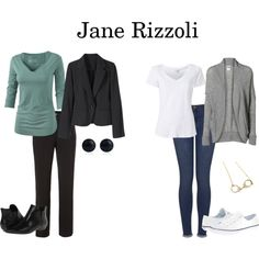 Jane Rizzoli by tvshowfashions on Polyvore featuring Vero Moda, Witchery, Topshop, belle by Sigerson Morrison, Lauren Ralph Lauren, River Island, Fantasy Jewelry Box and Fat Face