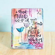 A Good Friend ArtMetal Plaque  Great New & Unique Products for you and excellent gifts for your friends and families!  www.femailcreatio... #GiftsForWomen #Gifts #GiftsForAllOccassion #InspirationalGifts #Tribe #Sassy #Girlfriends #Sisterhood