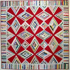 Red Zinger Selvage Quilt and pattern by KarenGriskaQuilts. Make your own Zinger and email a photo to me at karengriska@optonline.net and I'll add it to this Pinterest board.