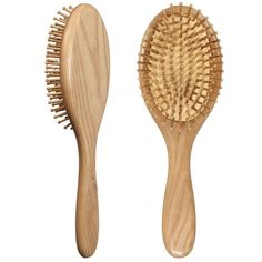 LOUISE MAELYS Oval Wooden Bristle Hair Brush Detangling Massage Dry Scalp Hairbrush Wood Hair Comb *** You can get more details by clicking on the image.