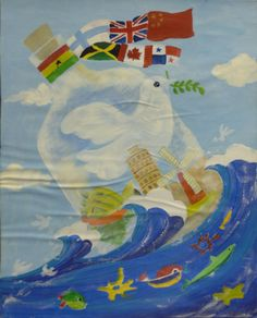 Finalist from China: Lions Clubs International Peace Poster Contest Children Painting, Painting For Kids, Lions Clubs International, Peace Poster, Poster Competition, Unity In Diversity, Give Peace A Chance, Youth Programs, One Tree