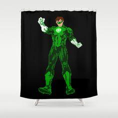 Green Lantern - Dorez Romain Print available at Society6 Facebook