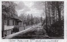 1900-luvun alkua Riihimäellä, vasemmalla Vihreä talo