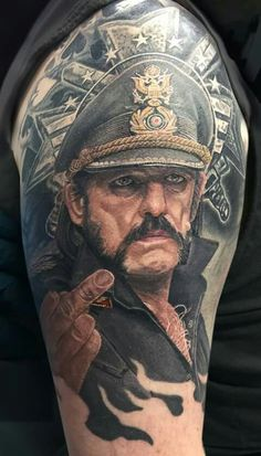 Music Tattoo - Lemmy Kilmister of Motorhead - http://www.pinterest.com/TheHitman14/music-tattoosbody-art-%2B/
