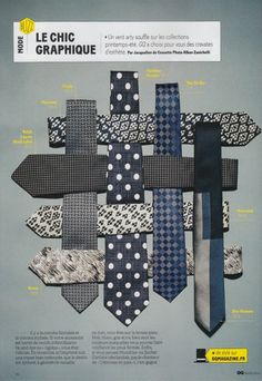 Marwood Harlequin Ties in GQ France