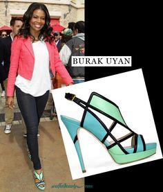 Gabrielle Union in Burak Uyan strappy sandals.