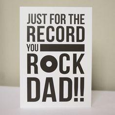 'You Rock Dad' Birthday Card