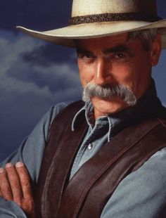 """Sam Elliott played The Stranger in the Coen brothers film The Big Lebowski. """"That was great fun,"""" he says. """"The Coen brothers are such brilliant guys."""""""