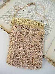 Antique Crocheted Reticule Purse with by UrbanRenewalDesigns, $35.00